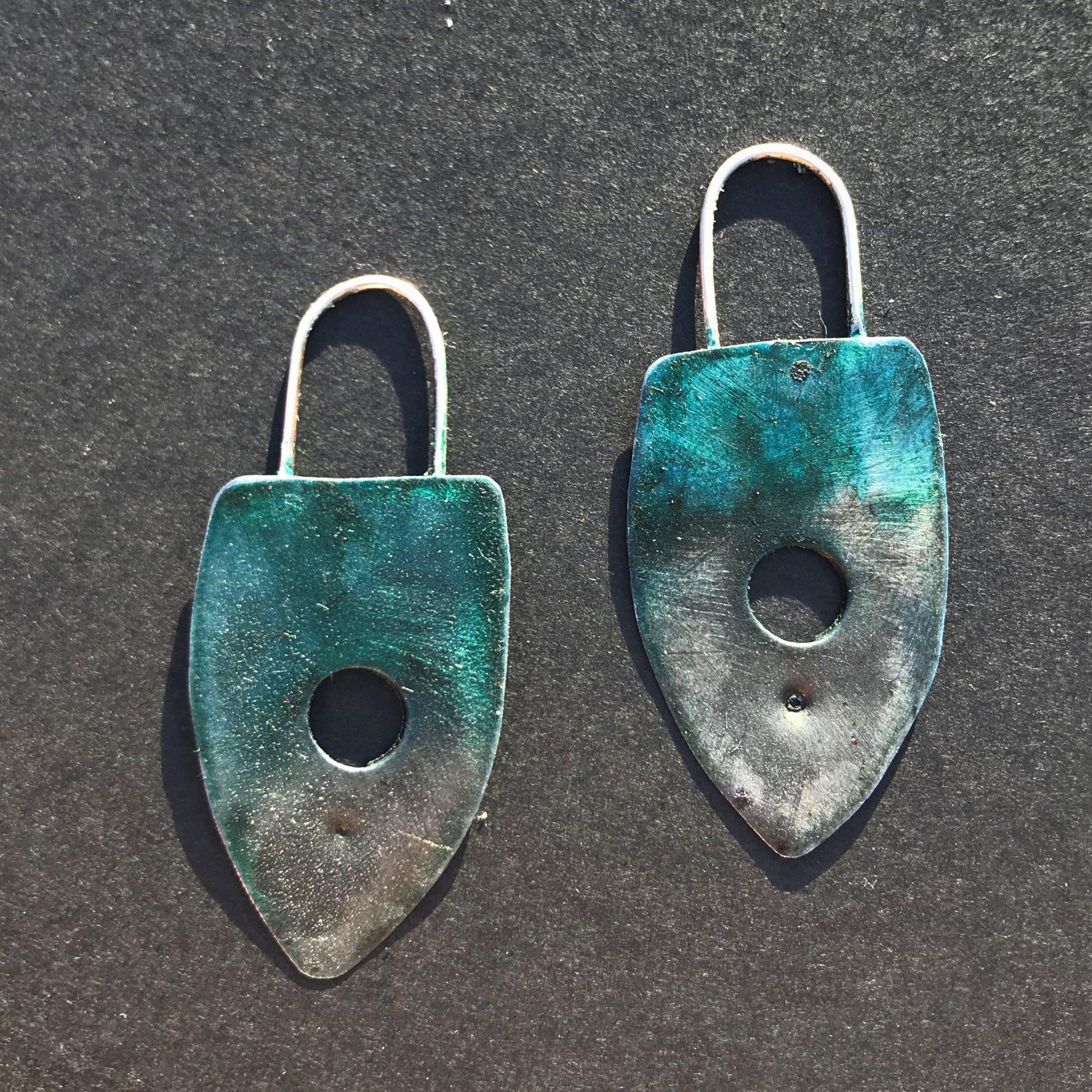 Upcycled Steel Earrings